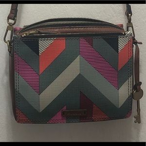 Multi Color Fossil Crossbody OPEN TO OFFERS